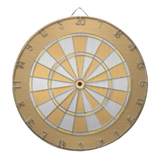 Silver and Gold Dartboard