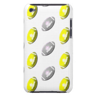 Silver and Gold Football Pattern Barely There iPod Covers