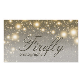 Silver And Gold Glowing Fireflies With Night Stars Pack Of Standard Business Cards