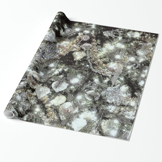 'Silver and Gold' Holiday Gift Wrap Wrapping Paper