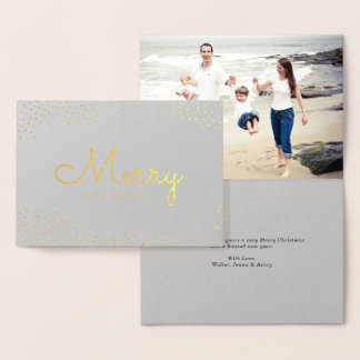 Silver and Gold Holiday Photo Card