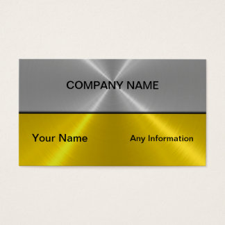 Silver and Gold Luxury Metal Business Cards