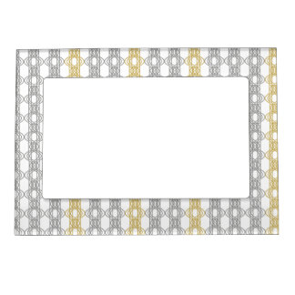 Silver and Gold Pattern Frame Magnets