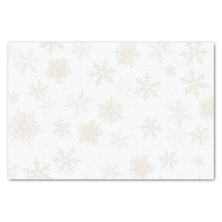 Silver and Gold Snowflakes Tissue Paper