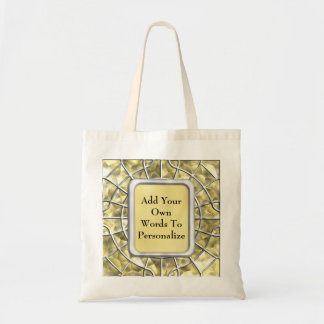 Silver and Gold Spider Web Canvas Bags