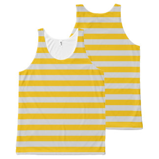 Silver and Gold Stripes All-Over Print Tank Top