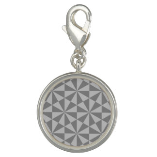 Silver and grey triangles pattern