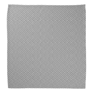 Silver and grey triangles pattern bandana
