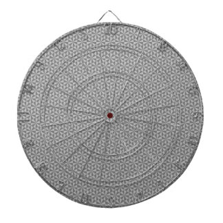 Silver and grey triangles pattern dart board