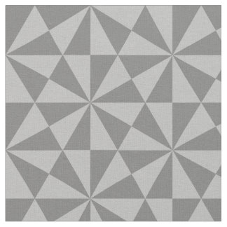 Silver and grey triangles pattern fabric