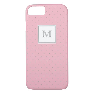 Silver and pink Polka Dot Phone case