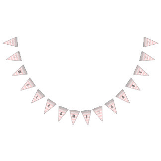 Silver and Pink Welcome Baby Banner