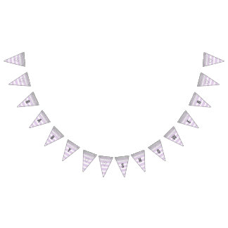 Silver and Purple Baby Shower Banner