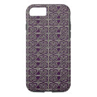 Silver And Purple Connected Ovals Celtic Pattern iPhone 8/7 Case