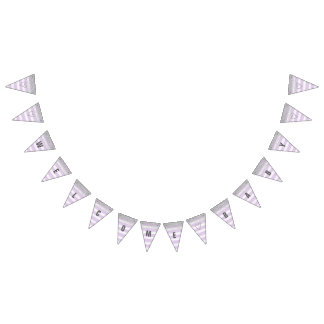 Silver and Purple Welcome Baby Banner