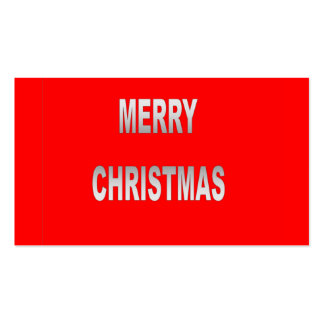 Silver And Red Merry Christmas Gift Cards Business Card