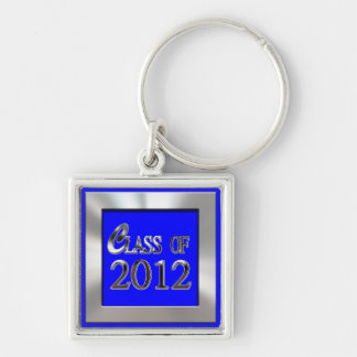 Silver And Royal Blue Class Of 2012 Grad Keychain