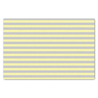 Silver and Soft Yellow Stripes Tissue Paper