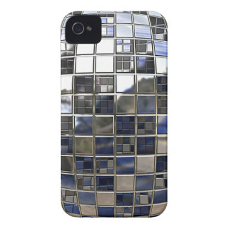 Silver and some Blue Disco Ball Mirrors iPhone 4 Case