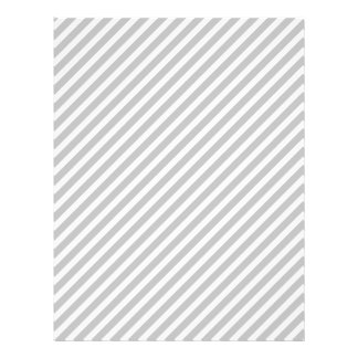 Silver and White Diagonal Christmas Candy Stripes Personalized Flyer