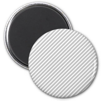 Silver and White Diagonal Christmas Candy Stripes Refrigerator Magnets