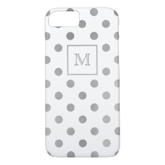 Silver and white Polka Dot Phone case