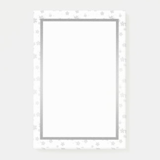 Silver and White Post-it Notes