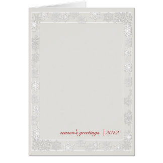 Silver and White Snowflake Business Christmas Card
