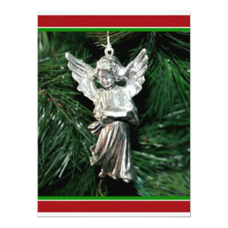 Silver Angel Ornament 17 Cm X 22 Cm Invitation Card