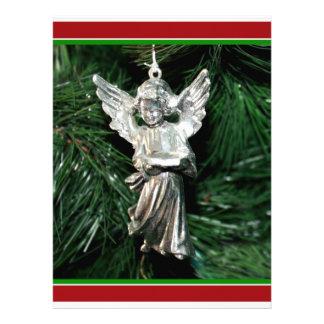 Silver Angel Ornament Invite