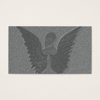 Silver Angel Wings and Angel