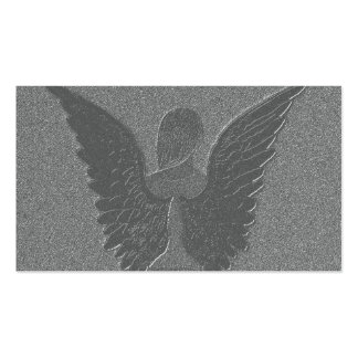Silver Angel Wings and Angel Pack Of Standard Business Cards