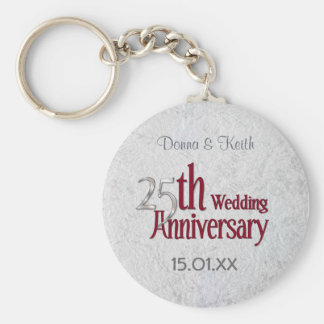 Silver Anniversary Key Ring
