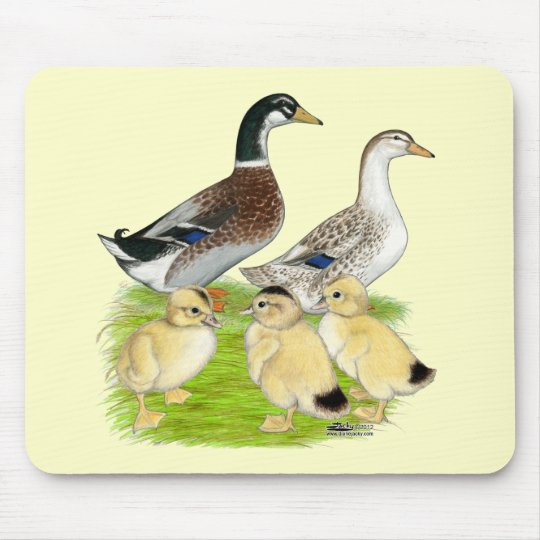 Silver Appleyard Family Mouse Mat