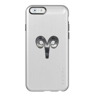 Silver Aries Zodiac Symbol on Green Digital Camo Incipio Feather® Shine iPhone 6 Case