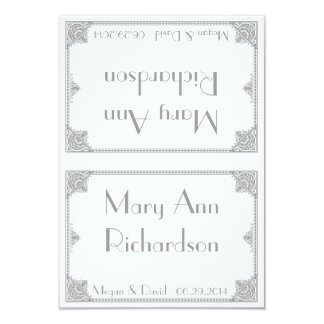 Silver Art Deco - Elegant Wedding Table Cards