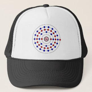 Silver Atom Trucker Hat