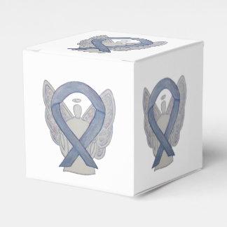 Silver Awareness Ribbon Angel Party Favor Box Wedding Favour Box