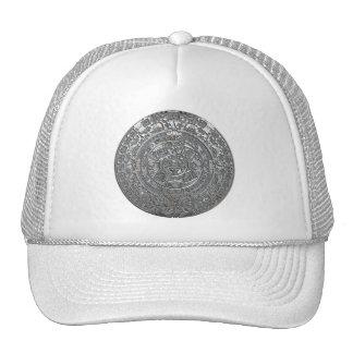 Silver Aztec Calendar Trucker Hat
