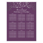 Silver Baby's Breath Plum Wedding Seating Chart