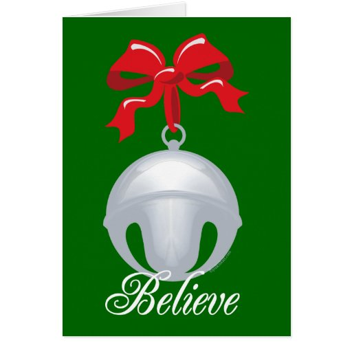 Silver Bell Believe Greeting Card