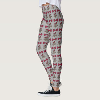 Silver Bells Bow Wedding Anniversary Leggings