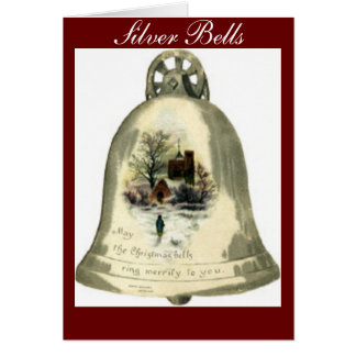Silver Bells Christmas Bells Cards
