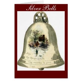 Silver Bells, Christmas Bells Greeting Card