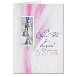 Silver Bells Christmas for Sister Card