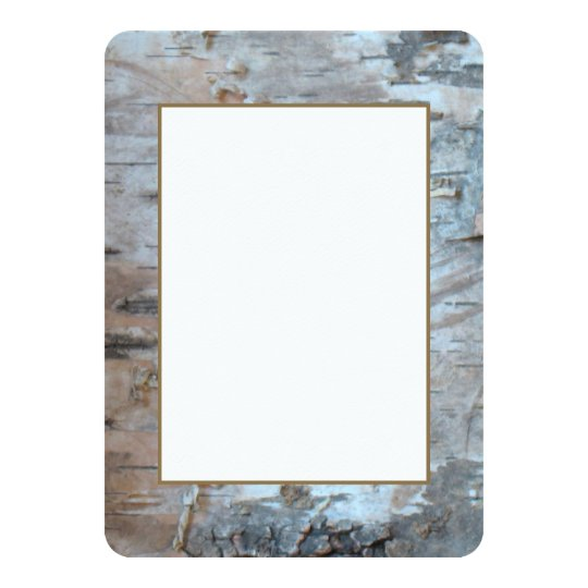 Silver Birch Bark With Gold Card