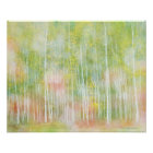 Silver Birch Trees Poster