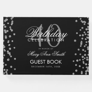 40th birthday party guest books zazzle co uk