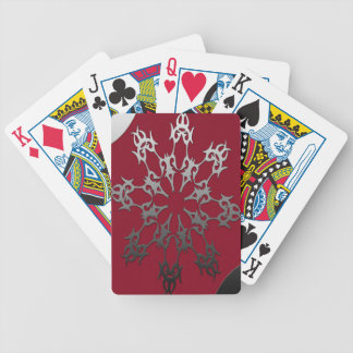 Silver Black Brick Ethnic Abstract Bicycle Playing Cards