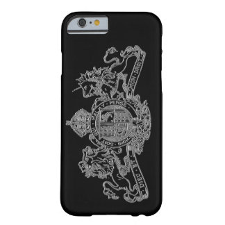 Silver Black Dieu Mon Droit British Coat of Arms Barely There iPhone 6 Case
